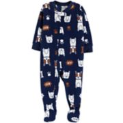 Baby Boy Carter's Dog Microfleece Footed Pajamas
