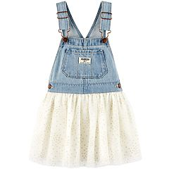 Baby Girl OshKosh B'gosh® Glitter Dot Denim Jumper