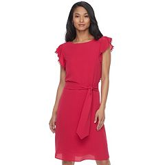Women's ELLE™ Pom-Pom Trim Sheath Dress