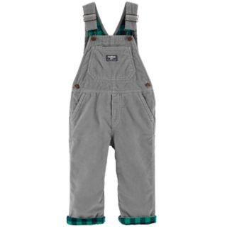 Baby Boy OshKosh B'gosh® Corduroy Flannel Lined Bib Overalls