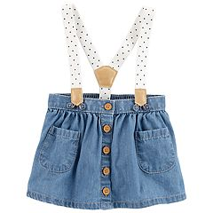 Baby Girl OshKosh B'gosh® Chambray Suspender Skirt