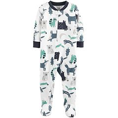 Baby Boy Carter's Woodland Creatures Microfleece Footed Pajamas