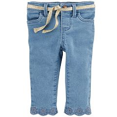 Baby Girl OshKosh B'gosh® Eyelet Embroidered Jeans