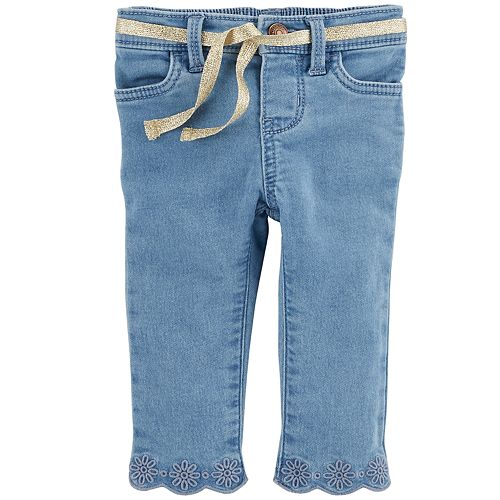 8ecb5817c Baby Girl OshKosh B'gosh® Eyelet Embroidered Jeans