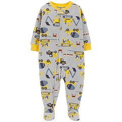 Baby Boy Carter's Construction Truck Microfleece Footed Pajamas