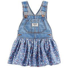 Baby Girl OshKosh B'gosh® Floral Denim Jumper