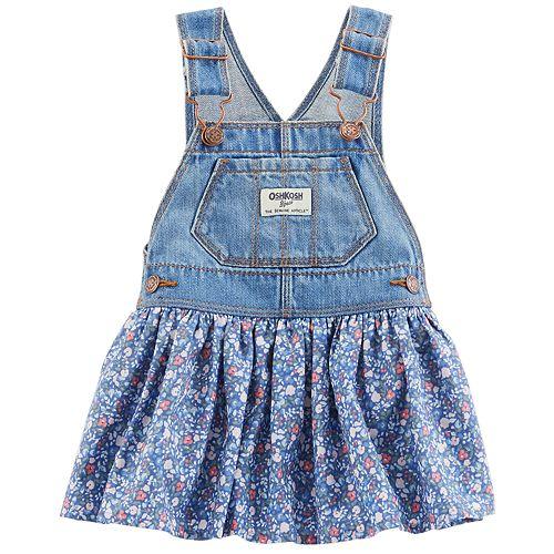 4b6949b34e8d Baby Girl OshKosh B gosh® Floral Denim Jumper