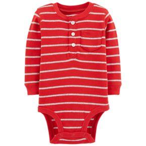 Baby Boy Carter's Striped Henley Bodysuit