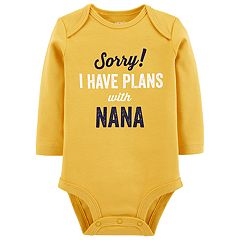 Baby Boy Carter's 'Sorry! I Have Plans With Nana' Bodysuit