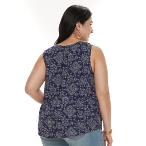 Plus Size SONOMA Goods for Life? Printed Tank