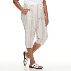 Plus Size Croft & Barrow® Sheeting Pull-On Capris