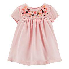 Baby Girl OshKosh B'gosh® Embroidered Yoke Dress