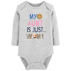 Baby Girl Carter's 'My Aunt Is Just Wow' Foiled Graphic Bodysuit