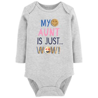 "Baby Girl Carter's ""My Aunt Is Just Wow"" Foiled Graphic Bodysuit"