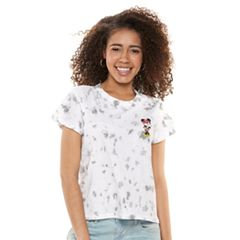Disney's Minnie Mouse Juniors' Crop Tie-Dye Tee