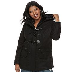 Juniors' Plus Size Urban Republic Hooded Duffle Toggle Coat