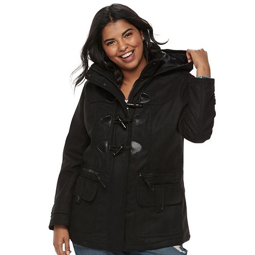 Juniors' Plus Size Urban Republic Hooded Duffle Toggle Coat
