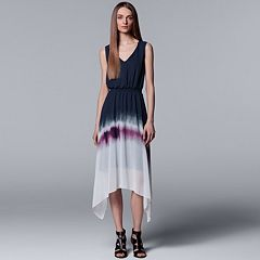 Women's Simply Vera Vera Wang Print Handkerchief Hem Dress