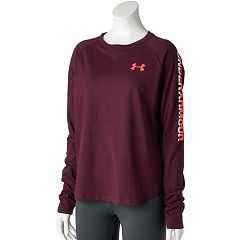 Women's Under Armour Tri-Blend Long Sleeve Metallic Graphic Tee