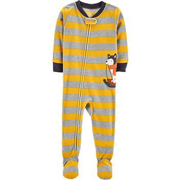 9e472c413518 Baby Boy Carter s Striped Husky Microfleece Footed Pajamas
