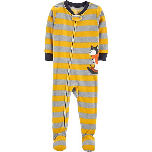 46ef99224 Baby Boy Carter s Striped Husky Microfleece Footed Pajamas