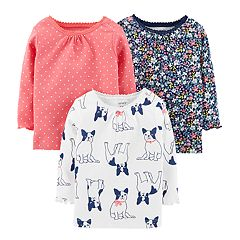 Baby Girl Carter's 3-pack Long Sleeve Shirts