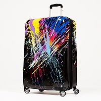FUL 80's Rainbow Expandable Hardside Luggage