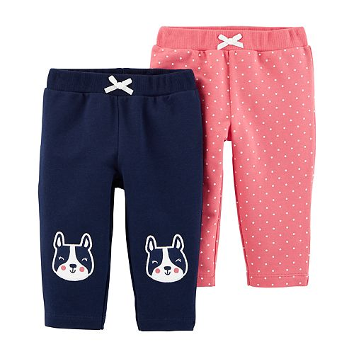 Navy//Pink Toddler Girl/'s Carter 2-Pack French Terry Jogger Pants