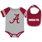 Baby Alabama Crimson Tide Roll-Out Bodysuit & Bib Set