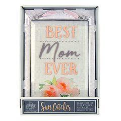 New View 'Best Mom' Suncatcher Wall Decor