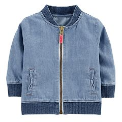 Baby Girl Carter's Chambray Bomber Jacket