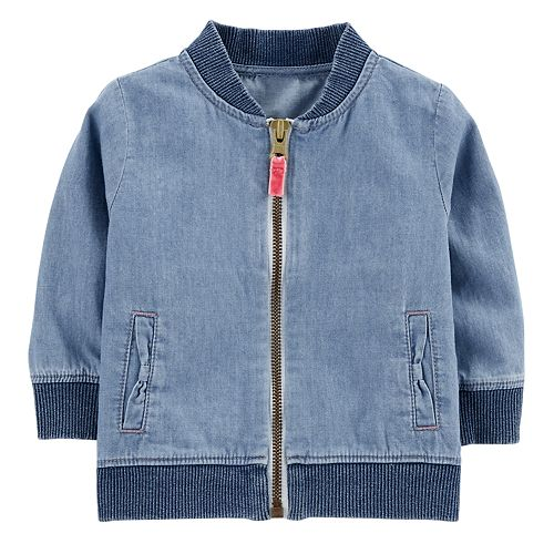 00cea62e9 Baby Girl Carter's Chambray Bomber Jacket