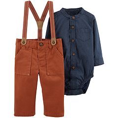 Baby Boy Carter's Suspender Pants & Button-Front Bodysuit