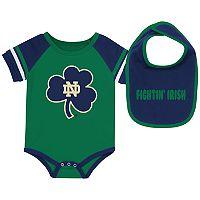Baby Notre Dame Fighting Irish Roll-Out Bodysuit & Bib Set