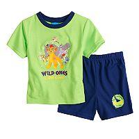 Disney's The Lion Guard Toddler Boy Kion, Beshti, Bunga, Fuli & Ohno Top & Shorts Pajama Set