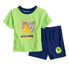 Disney's The Lion Guard Toddler Boy Kion, Beshti, Bunga, Fuli & Ohno Top & Shorts Pajama Set
