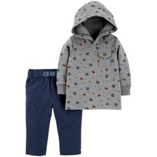 Baby Boy Carter's Chest Pocket Hoodie & Pants Set