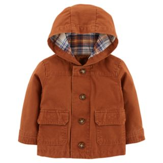 Baby Boy Carter's Flannel-Lined Canvas Jacket