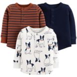 Baby Boy Carter's 3-Pack Dog, Stripes & Solid Tees