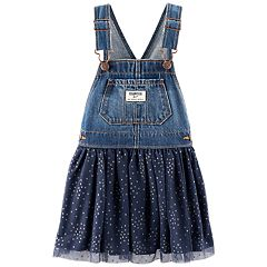 Baby Girl OshKosh B'gosh® Glittery Dot Denim Tulle Jumper