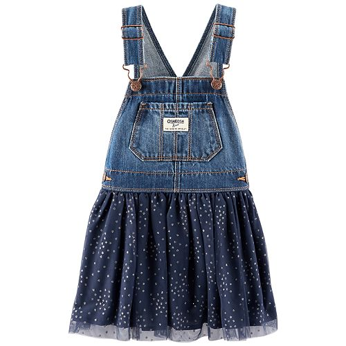 9b393ddeda06 Baby Girl OshKosh B gosh® Glittery Dot Denim Tulle Jumper