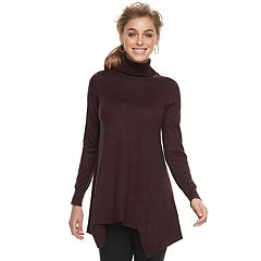 Women's Apt. 9® Shark-Bite Turtleneck Tunic