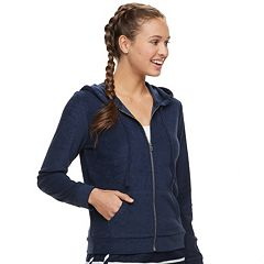 Juniors' Pink Republic Terry Zip-Up Hoodie