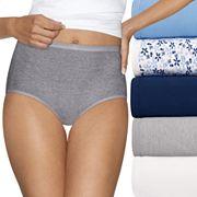 Women's Hanes Ultimate 5 pk+ 2 Bonus Comfort Ultra Soft Brief Panties 40HUC7