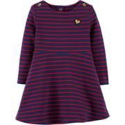 Baby Girl OshKosh B'gosh® Striped French Terry Dress