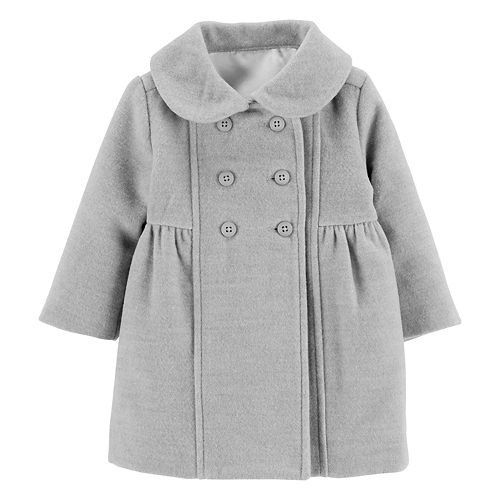 Baby Girl OshKosh B'gosh® Shirred Peacoat