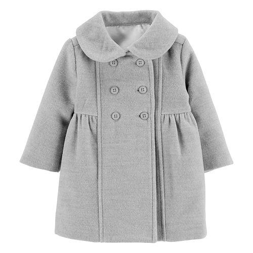 b655c6993 Baby Girl OshKosh B gosh® Shirred Peacoat
