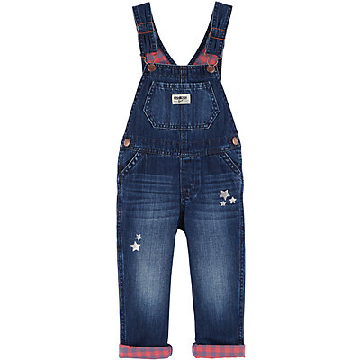 Baby Girl OshKosh B'gosh® Plaid Denim Overalls