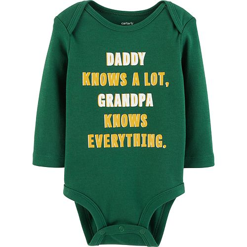"""Baby Boy Carter's """"Daddy Knows A Lot, Grandpa Knows Everything"""" Graphic Bodysuit"""