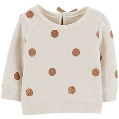 Baby Girl OshKosh B'gosh® Glittery Dot Fleece Sweashirt